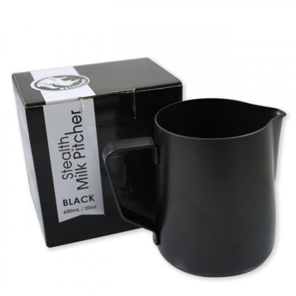 Rhinowares bricco latte in teflon nero 600ml
